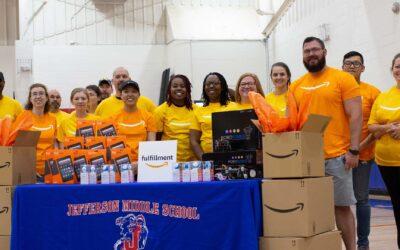 Amazon's STEAM Engineering Challenge at Jefferson Middle School